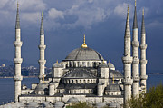 Europe Art - The Blue Mosque in Istanbul by Michele Burgess