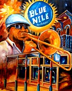 Trombone Paintings - The Blue Nile Jazz Club by Diane Millsap