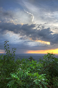 Sunset Scenes. Prints - The Blue Ridge Mountains Print by Debra and Dave Vanderlaan