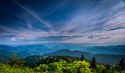 Cowee Mountain Overlook Prints - The Blue Ridges Print by Joye Ardyn Durham