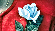 Donna Hayward Digital Art Prints - The Blue Rose Print by Luis Ludzska