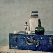 The Blue Suitcase Print by Priska Wettstein