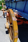 Wagonwheel Prints - The Blue Wagon Print by Richard Reeve