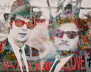 Black Tie Digital Art - The Blues Brothers by Filippo B