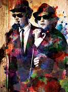 Music Paintings - The Blues Brothers by Steve Will