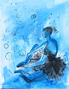 Ballet Dancers Painting Prints - The Blues - Number 1 Print by Patricia Riascos