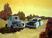 Rusty Truck Paintings - The blues by Tate Hamilton