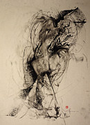 Strong Drawings Originals - The Blur Between Large and Her Warmth by John Arthur Ligda