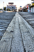 Atlantic Beaches Metal Prints - The Boardwalk Metal Print by JC Findley