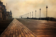 Daybreak Photo Acrylic Prints - The Boardwalk Acrylic Print by Lori Deiter