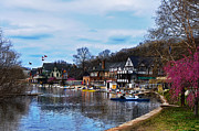 Art Museum Digital Art Metal Prints - The Boat House Row Metal Print by Bill Cannon