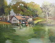 Lori Quarton Art - The Boathouse by Lori Quarton