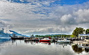 Coniston Art - The Boating Centre Coniston Water. by Trevor Kersley