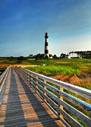 Boardwalks Photo Posters - The Bodie Island Light Poster by Mel Steinhauer