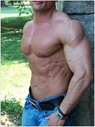 Stock Photography Muscle Digital Art - The Bodybuilder  Soft Touch by Jake Hartz