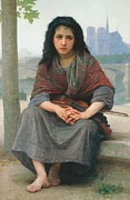 Shawl Paintings - The Bohemian by William Adolphe Bouguereau