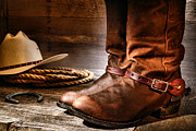 Cowboy Boots Art - The Boots by Olivier Le Queinec