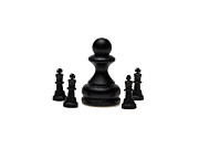 Chess Framed Prints - The Boss Framed Print by Alexander Senin