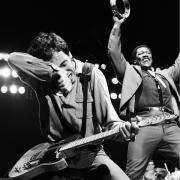 Bruce Springsteen Metal Prints - The Boss and The Big Man Metal Print by Chris Walter