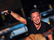 Bruce Springsteen Photo Prints - The Boss Print by Rafa Rivas
