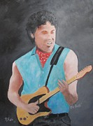 Bruce Springsteen Painting Prints - The Boss Print by Rich Fotia