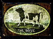 Greyhound Photos - The BOSS Russell Steam Tractor Logo by F Leblanc