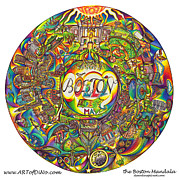 Skylines Drawings Originals - the Boston Mandala by DiNo
