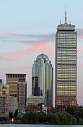 Prudential Center Photo Prints - The Boston Pru at Sunset Print by Juergen Roth