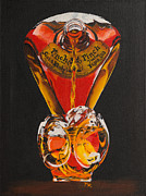 Liquid Painting Prints - The Bottle Print by Minnie Lippiatt