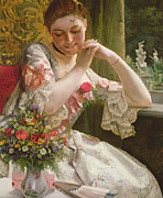 Decorating Paintings - The Bouquet by Albert Raudnitz