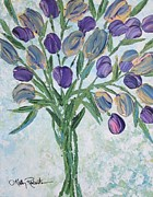 Vase Of Flowers Painting Prints - The Bouquet I Print by Molly Roberts
