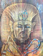 Pharaoh Painting Prints - The Boy Who Became Pharaoh  Print by SL Sistrunk