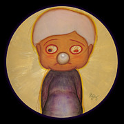 Precious Mixed Media Framed Prints - The Boy with the Silver Nose Framed Print by Nth Alien
