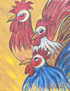 Roosters Prints - The Boys II Print by Molly Roberts