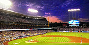 Cincinnati Cincinnati Reds Prints - The Boys of Summer at Dodger Stadium Print by Ron Regalado