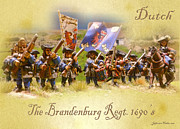 1696 Posters - The Brandenburg Regiment Poster by Jefferson Hobbs