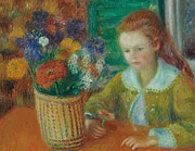 Sunflower Paintings - The Breakfast Porch by William James Glackens