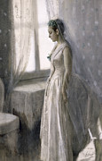 Silk Painting Framed Prints - The Bride Framed Print by Anders Leonard Zorn