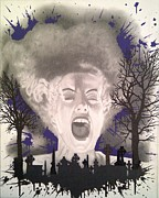 Bride Of Frankenstein Posters - The Bride Poster by Asev One