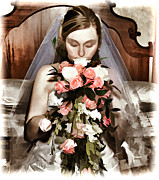 Wacom Tablet Prints - The Bride  Print by G Sugal