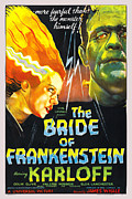 Movie Posters Framed Prints - The Bride of Frankenstein Framed Print by Universal Picture