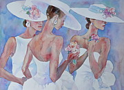 Ladies-in-waiting Art - The Bridesmaids by Sherri Crabtree