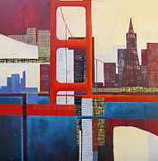 Golden Gate Mixed Media - The Bridge # 6 by Belinda Lima