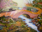 Brick Paintings - The Bridge Of  Happiness  by Carolyn Taylor