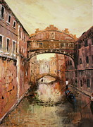 Actors Painting Originals - The Bridge of Sighs Venice Italy by Jean Walker