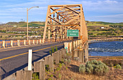 Oregon State Art - The bridge of the Dalles Oregon. by Gino Rigucci