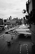 Manhaten Posters - the bridge of the USS Intrepid at the Intrepid Sea Air Space Museum new york city Poster by Joe Fox
