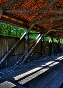 Covered Bridges Photos - The Bridge Timbers by Mel Steinhauer