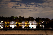 """schuylkill River""  Prints - The Bright Lights of Boathouse Row Print by Bill Cannon"