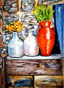 Jugs Mixed Media Prints - The Brighter Side Print by Micki Davis